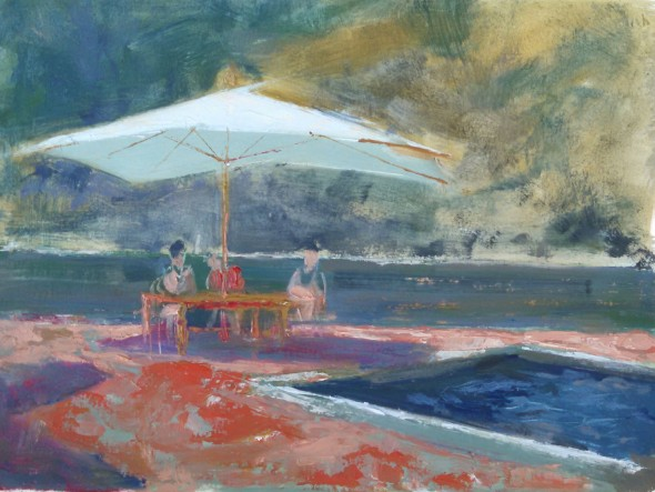 By the Pool Painting, C. Rudisill