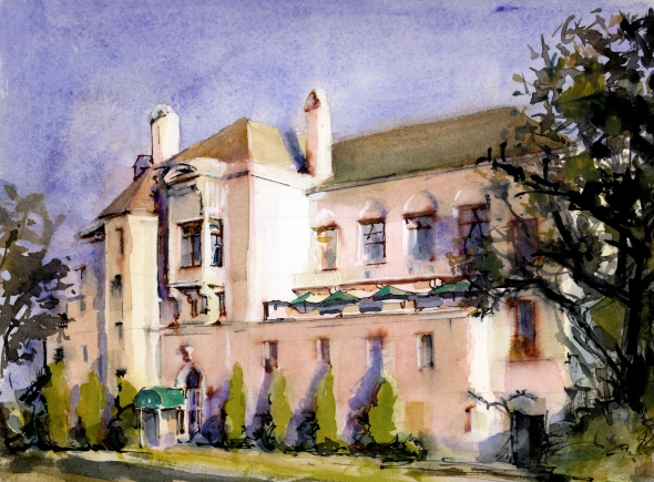 Bellevue Club watercolor image